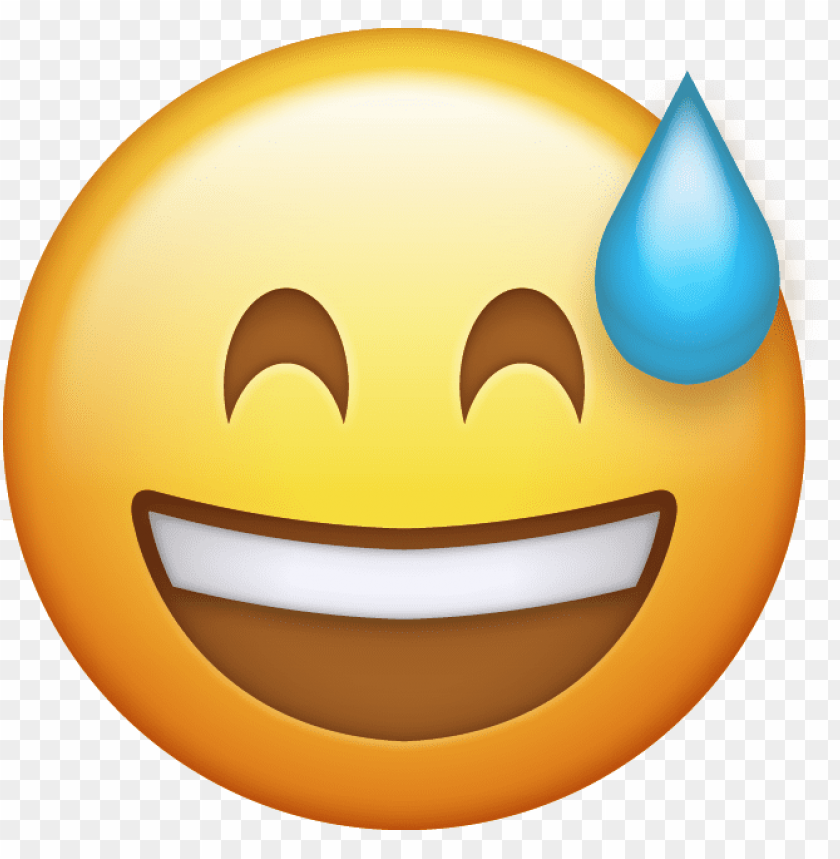 free PNG download sweat with smile iphone emoji jpg download - iphone emoji transparent background PNG image with transparent background PNG images transparent