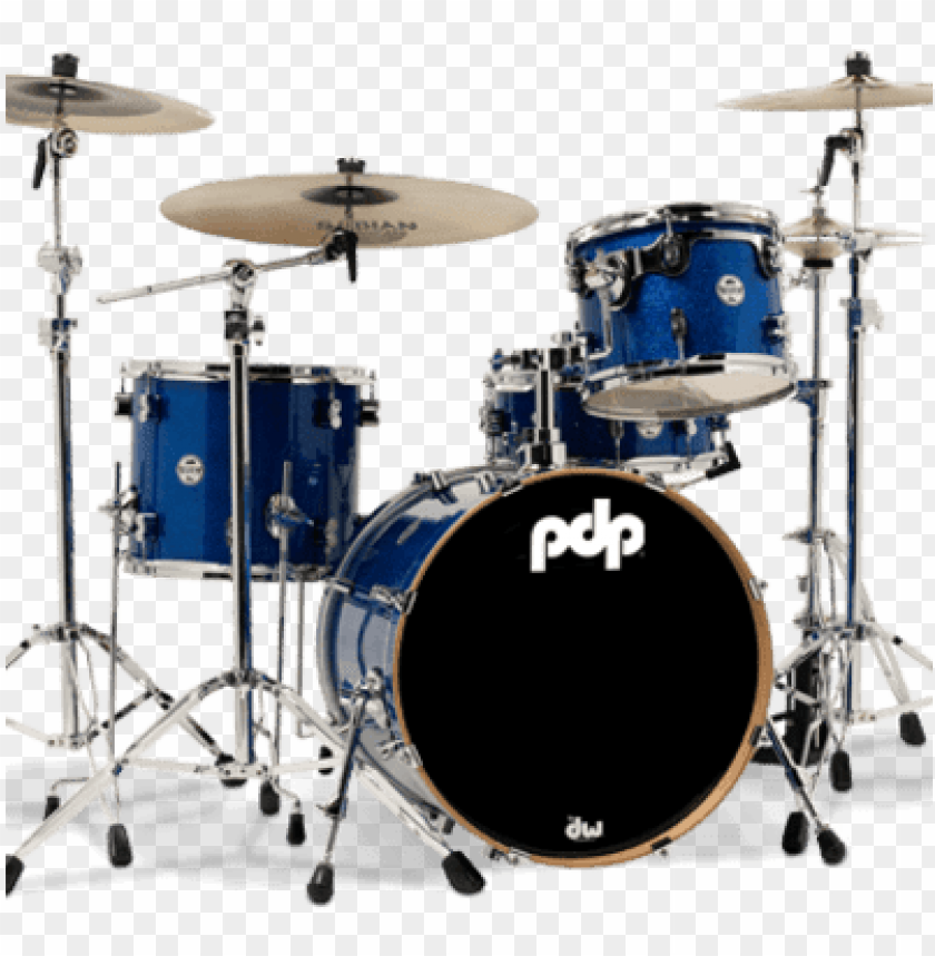 free PNG dp concept series 4-piece maple drum set, blue sparkle - pacific pdp concept maple 3-piece shell pack w/ chrome PNG image with transparent background PNG images transparent