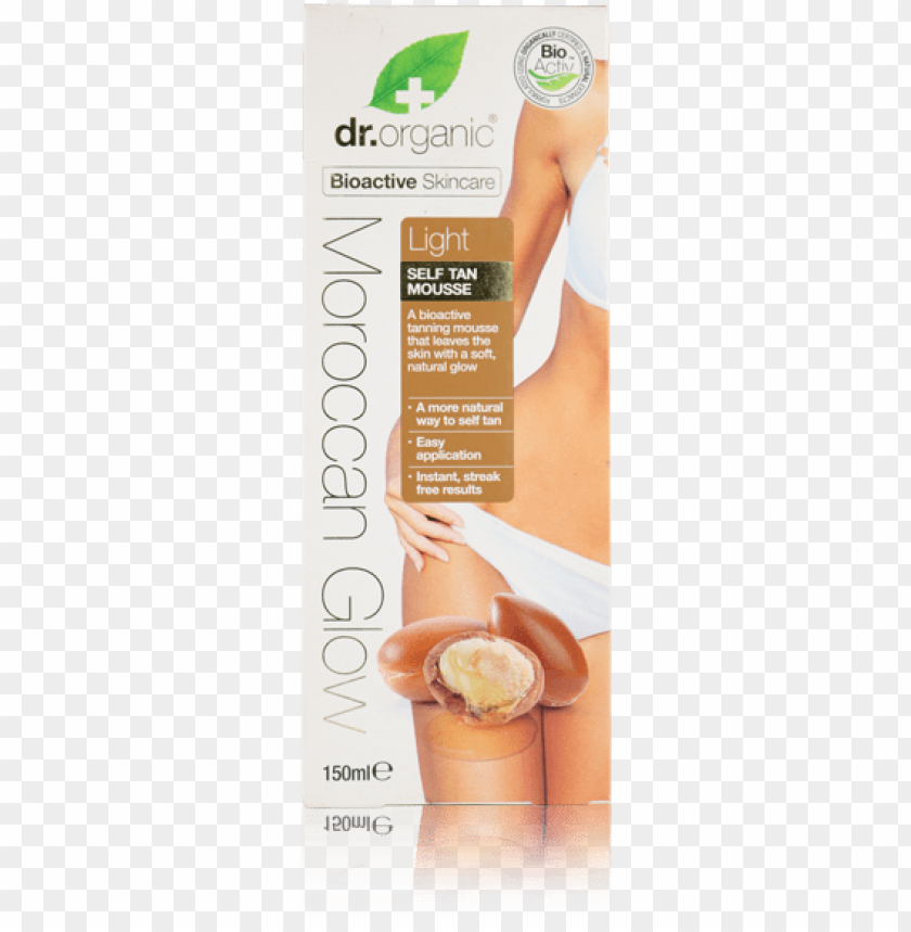 free PNG dr organic moroccan glow light self tan mousse 150ml PNG image with transparent background PNG images transparent
