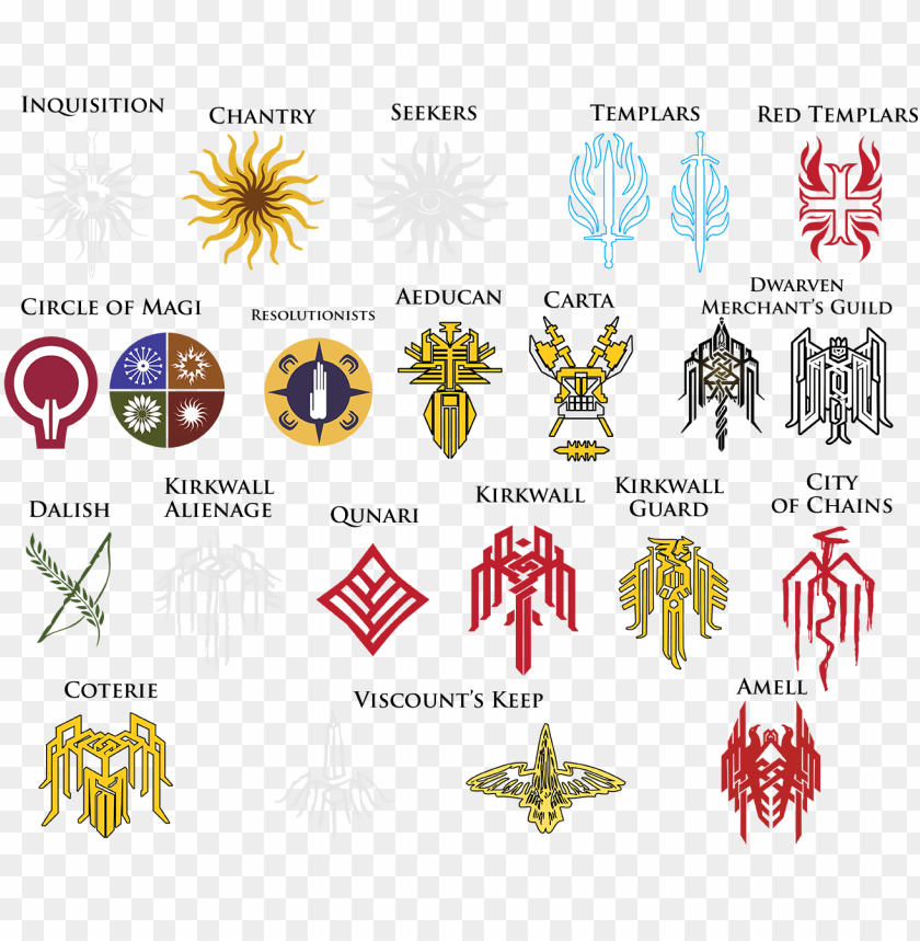 free PNG dragon age symbols and meanings - dragon age symbols PNG image with transparent background PNG images transparent