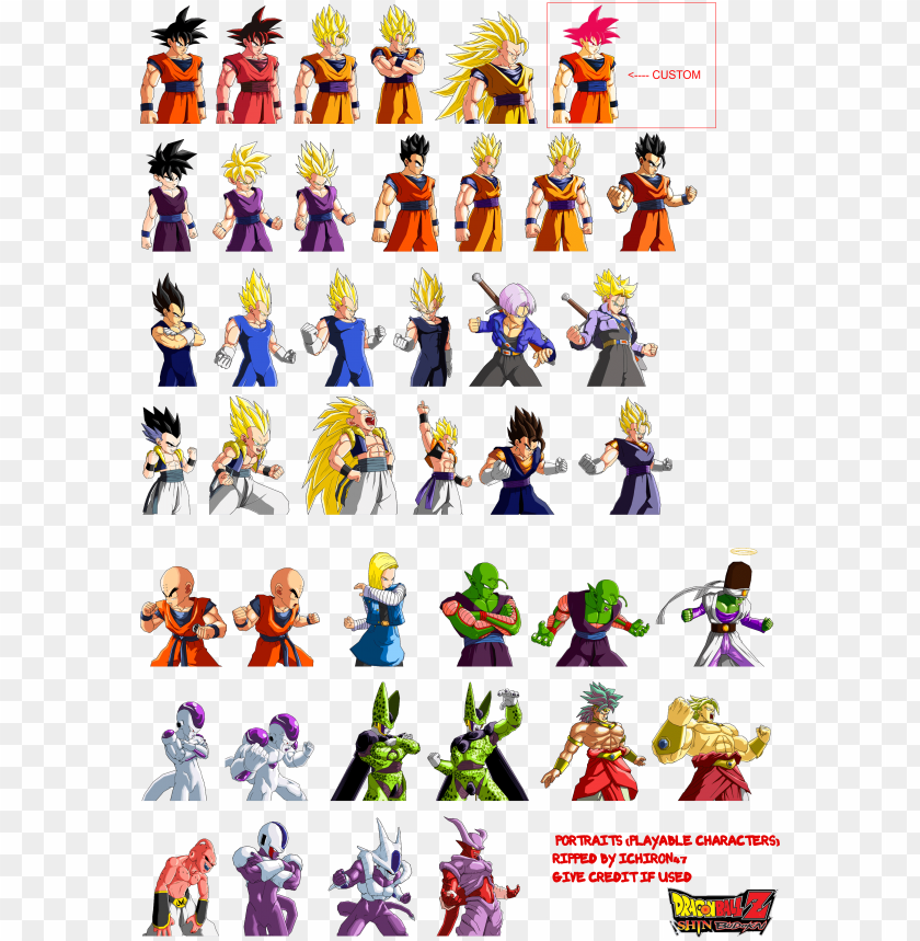 free PNG dragon ball z characters sprites pictures to pin on - dragon ball z budokai sprites PNG image with transparent background PNG images transparent