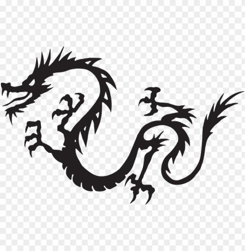 free PNG dragon black flying myth mythology drawing - japanese dragon chinese dragon clipart PNG image with transparent background PNG images transparent