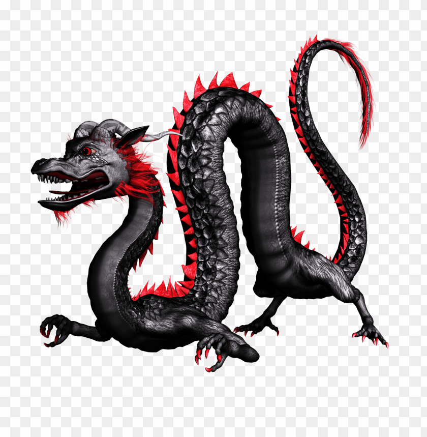 Dragon Chinese Black And Red Png Image With Transparent Background Toppng