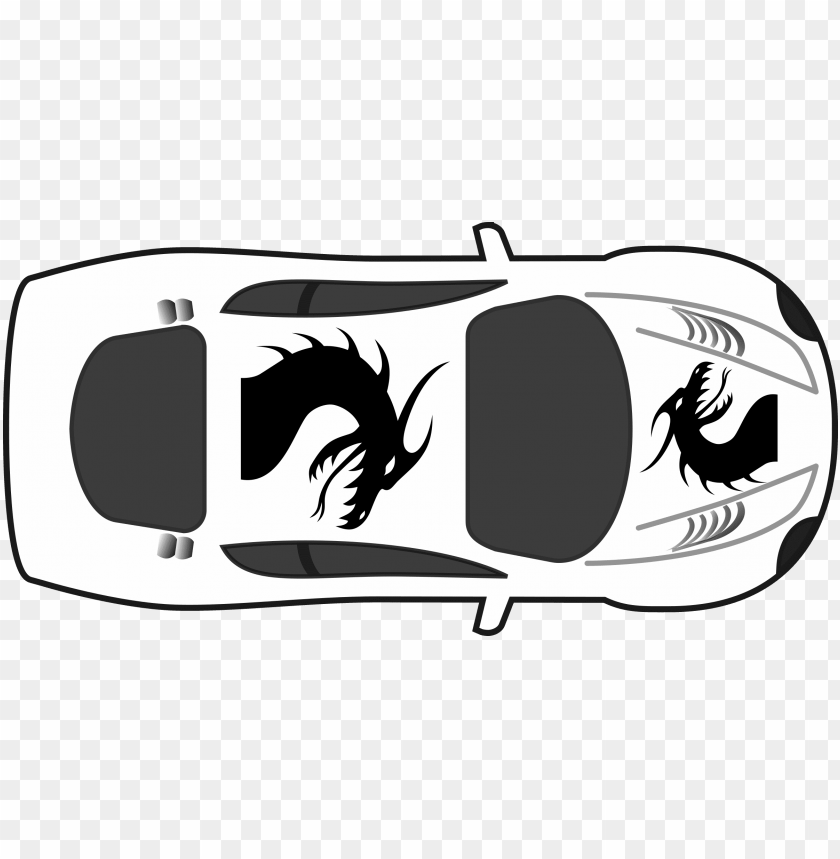 free PNG dragon paint job on car top view svg transparent - car clipart top view PNG image with transparent background PNG images transparent