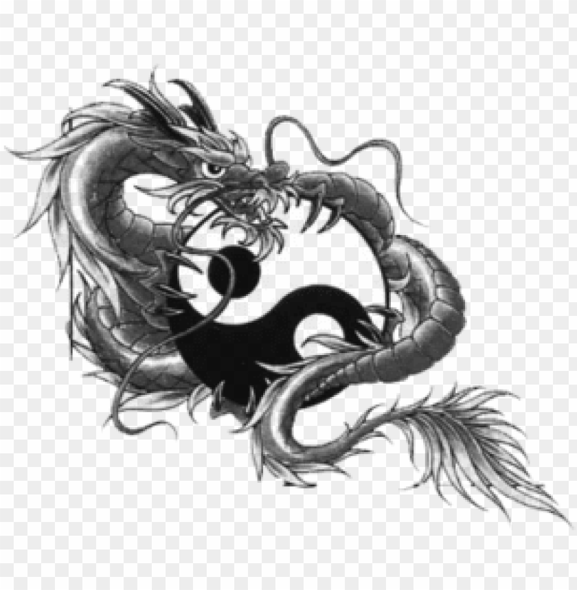 free PNG dragon tattoo design hand draw, tattoo, temporary tattoos, - dragon yin yang tattoo designs PNG image with transparent background PNG images transparent