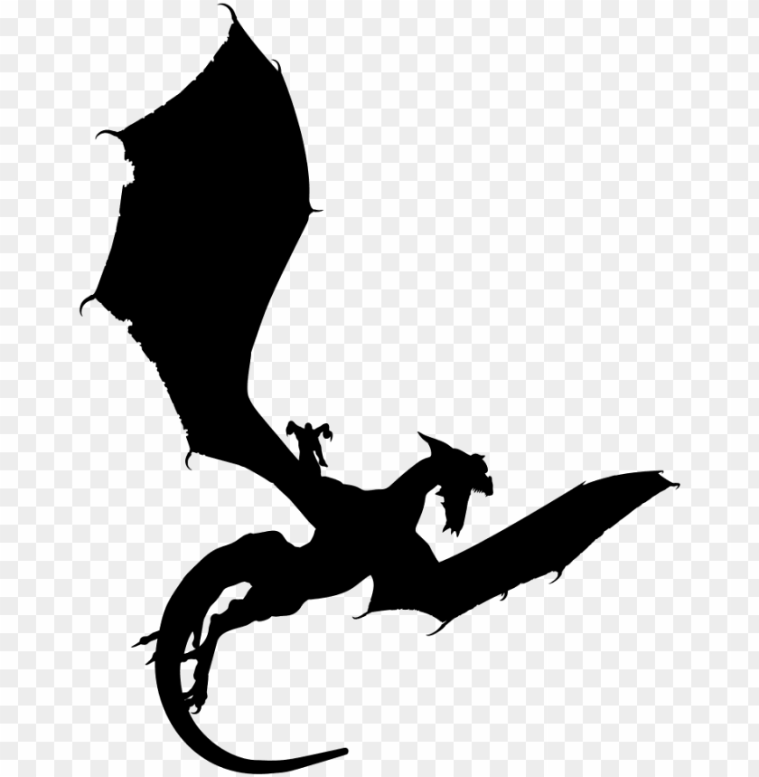 free PNG dragon wings silhouette png download - dragon silhouette PNG image with transparent background PNG images transparent