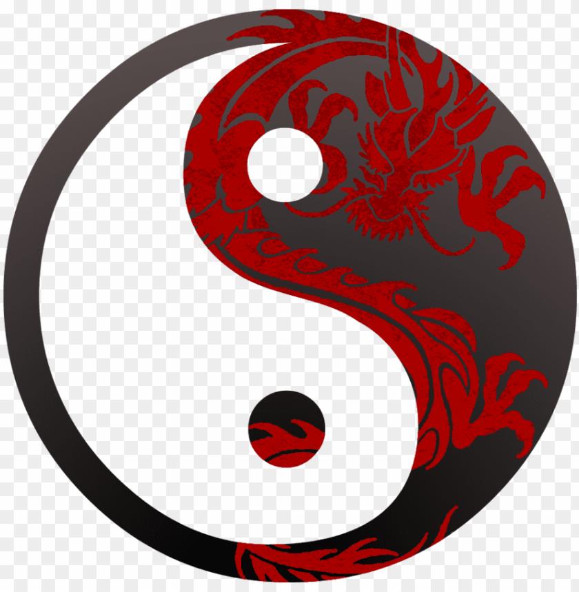 free PNG dragon yin yang symbol images pictures - yin yang symbol drago PNG image with transparent background PNG images transparent