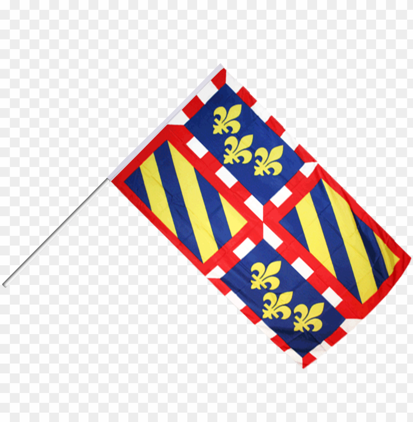 free PNG drapeau france bourgogne sur hampe - burgundy flag - 3x5 ft PNG image with transparent background PNG images transparent
