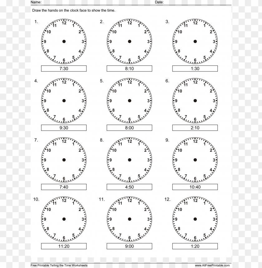 This is an image of Printable Clock Hands inside colorful