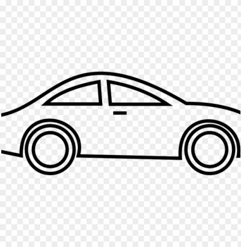 Drawing Clipart Car Cartoon Car Black And White Png Image With Transparent Background Toppng