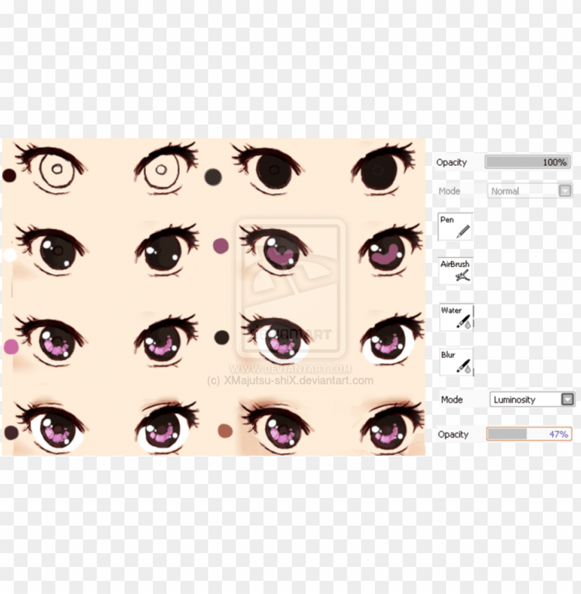 free PNG drawing eyes realistic - semi realistic anime eyes PNG image with transparent background PNG images transparent