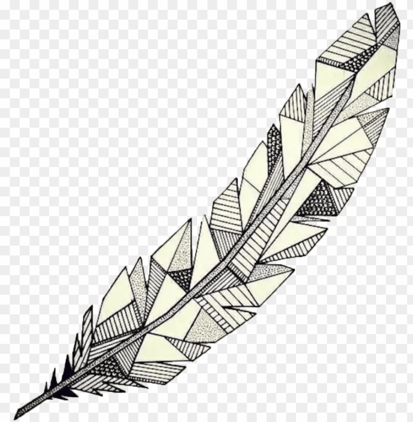 free PNG drawing geometric watercolor - geometric feather PNG image with transparent background PNG images transparent