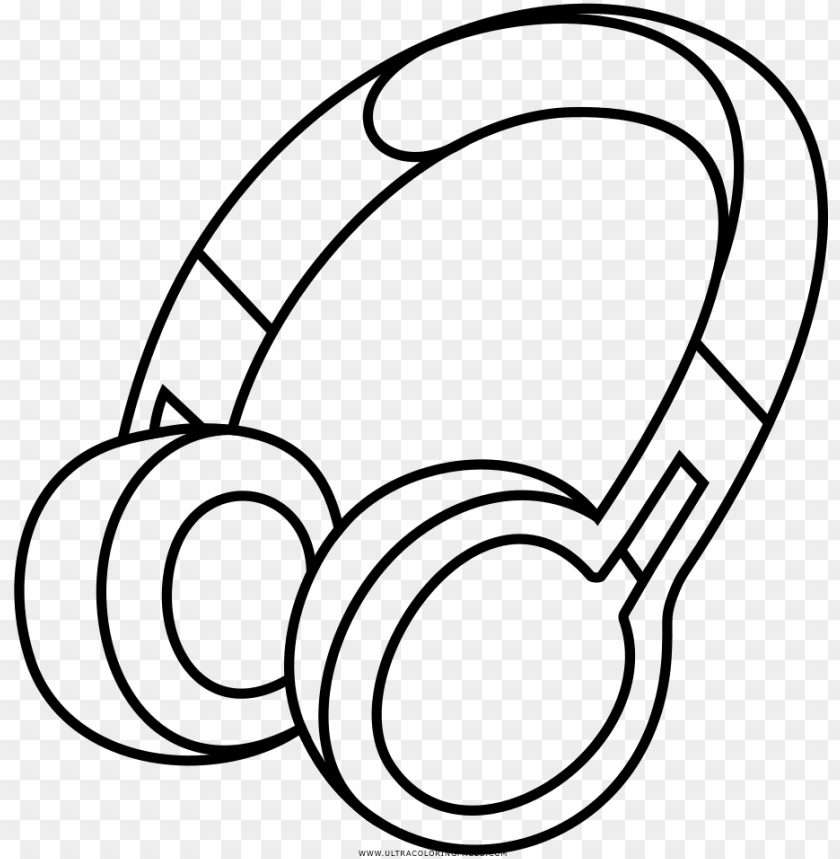 Drawing Headphones Clip Art Transparent Library - Headphone Coloring Page  PNG Image With Transparent Background TOPpng
