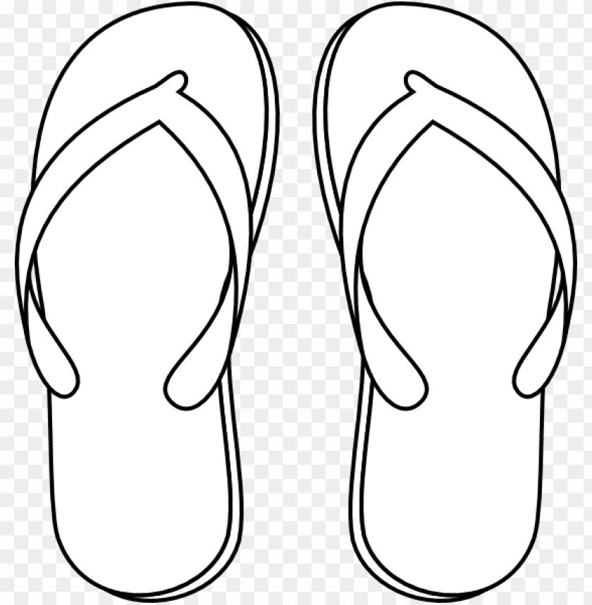 free PNG drawing of a flip flop - flip flops clipart black and white PNG image with transparent background PNG images transparent