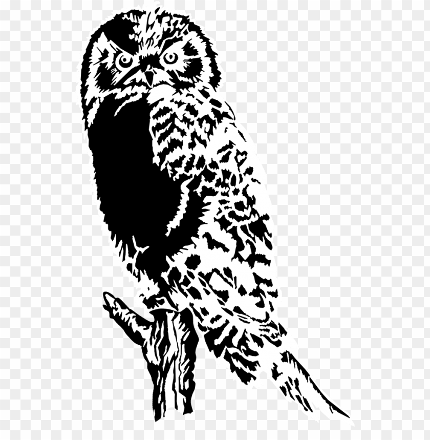free PNG drawing of owl black white png, great horned owl - owl silhouette PNG image with transparent background PNG images transparent
