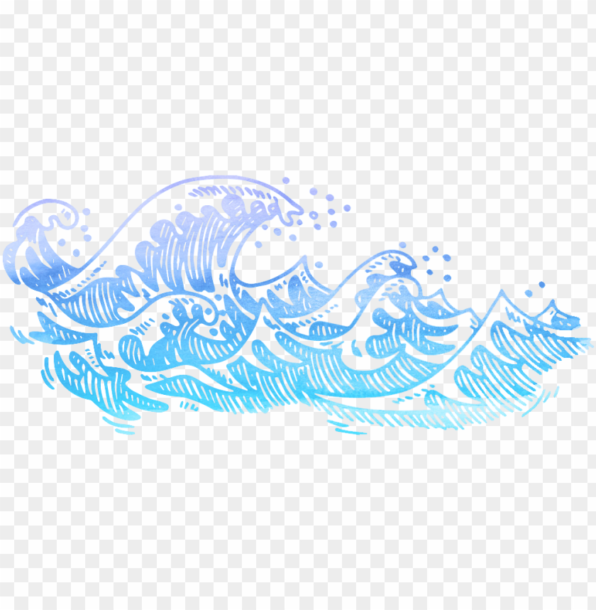 free PNG drawing watercolor painting - waves drawing black and white PNG image with transparent background PNG images transparent