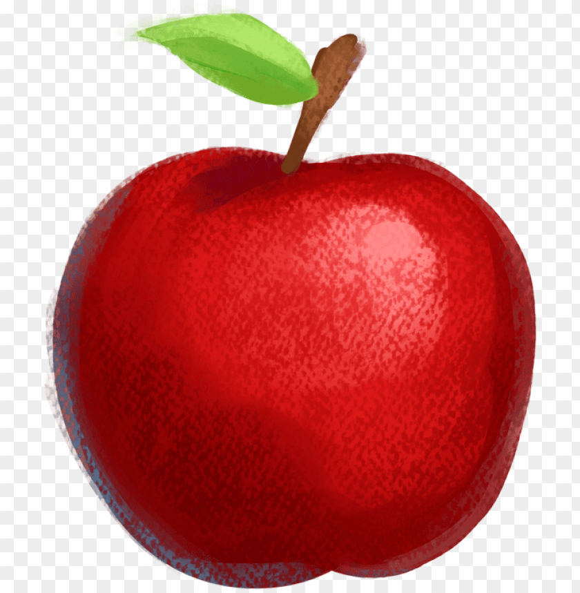 free PNG drawn apple red apple - apple drawing with colour PNG image with transparent background PNG images transparent