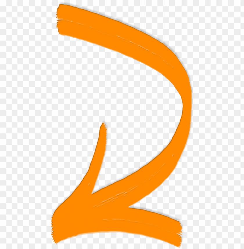 free PNG drawn arrow bent - orange curved arrow PNG image with transparent background PNG images transparent