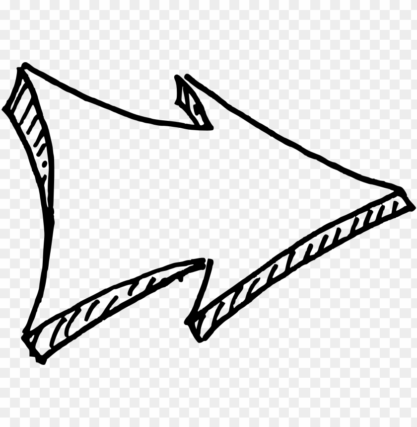 free PNG drawn arrow png download - funky white arrow PNG image with transparent background PNG images transparent