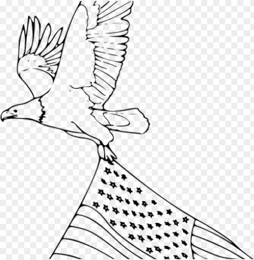 free PNG drawn bald eagle flying eagle - drawings american flag with eagle PNG image with transparent background PNG images transparent
