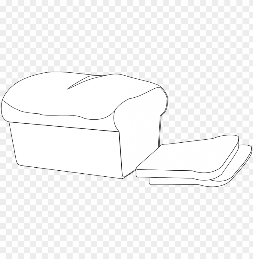 free PNG drawn bread bread line - loaf bread clip art black and white PNG image with transparent background PNG images transparent