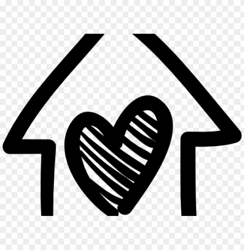 free PNG drawn building house logo - heart with home ico PNG image with transparent background PNG images transparent