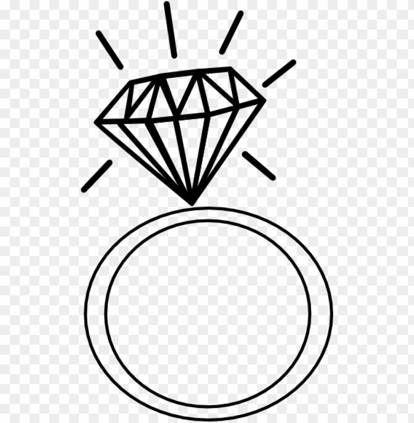 Drawn Diamond Clip Art Cartoon Engagement Ri Png Image With Transparent Background Toppng