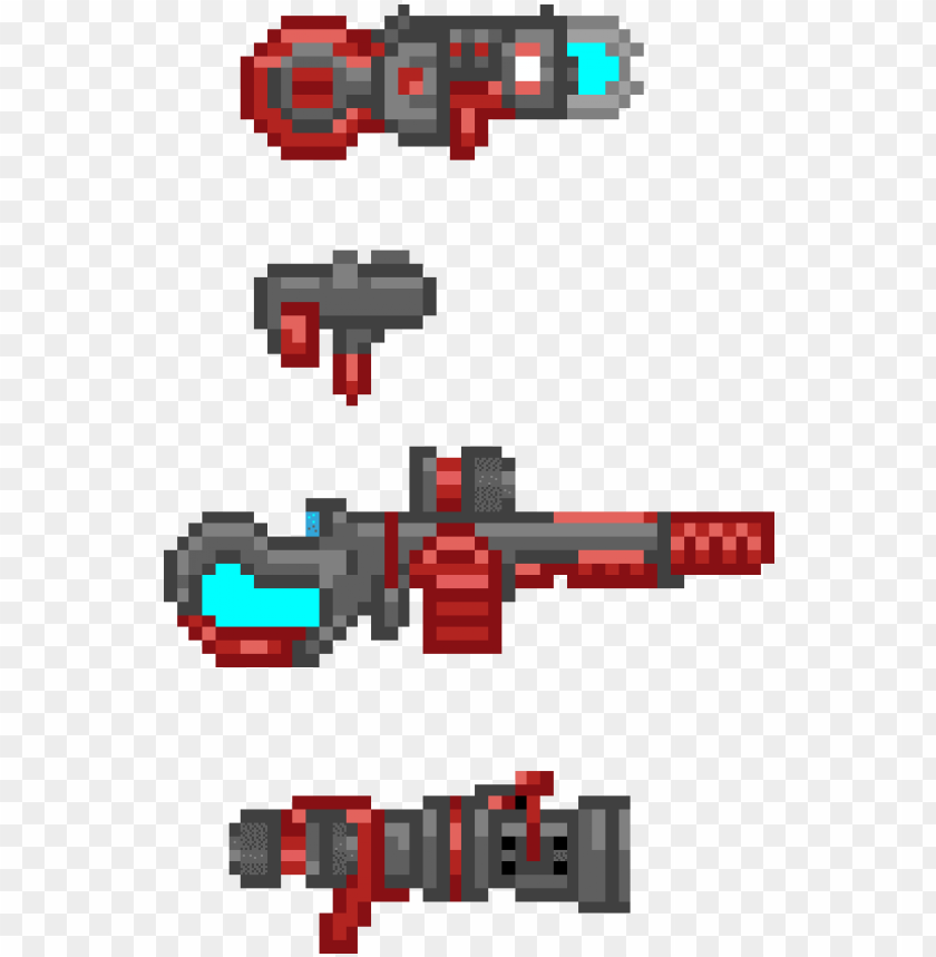 free PNG drawn gun sprite sheet - sci fi gun sprite PNG image with transparent background PNG images transparent