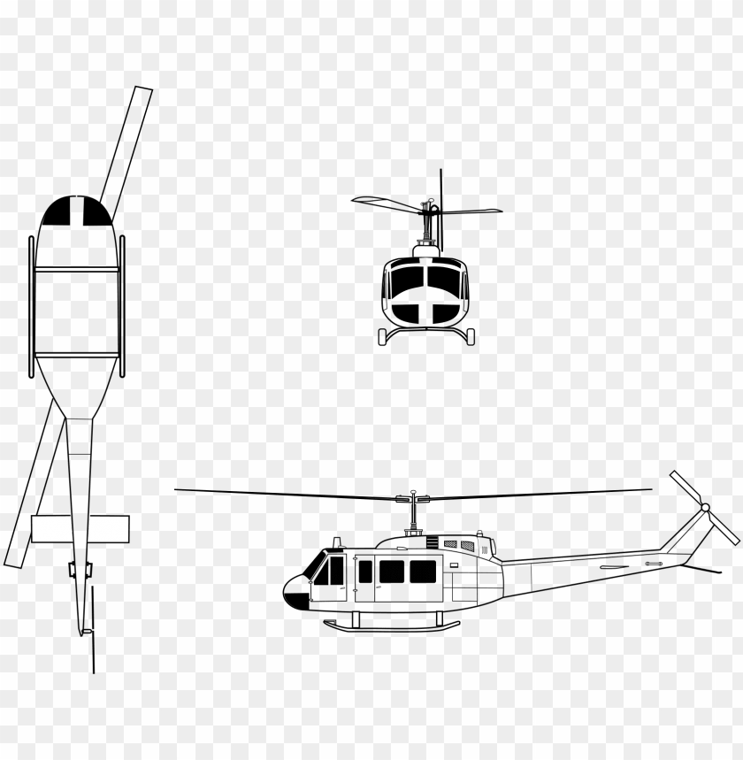 free PNG drawn helicopter huey helicopter - bell uh 1 huey diagram PNG image with transparent background PNG images transparent