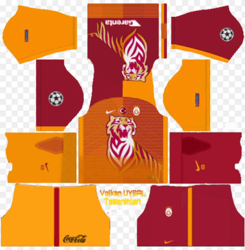 free PNG dream league soccer 17 galatasaray yaması, forma ve - dream league soccer pakistan kit PNG image with transparent background PNG images transparent