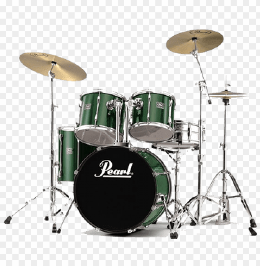 free PNG drums green pearl - pearl drum set gree PNG image with transparent background PNG images transparent