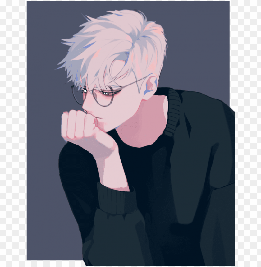 Dude White Hair Anime Boy White Hair Png Image With Transparent Background Toppng