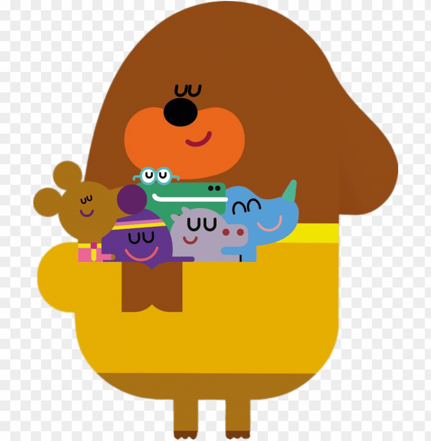 free PNG duggee hugging his friends png - hey duggee duggee hu PNG image with transparent background PNG images transparent