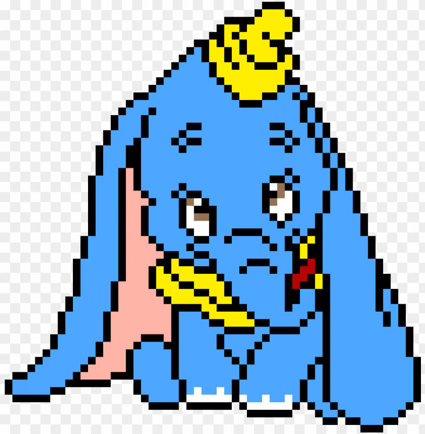 Dumbo Pixel Art Disney Dumbo Png Image With Transparent