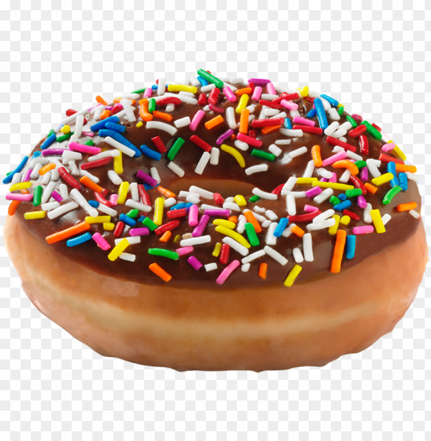 free PNG dunkin donuts clipart sprinkled donut - krispy kreme chocolate donut with sprinkles PNG image with transparent background PNG images transparent