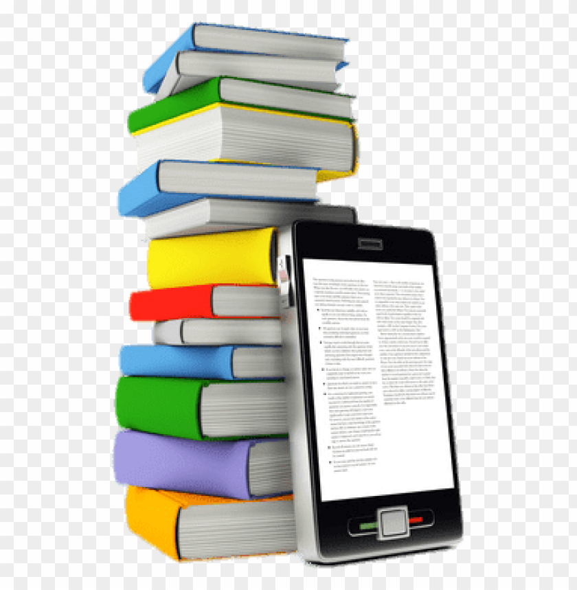 free PNG e-book in front of book pile png images background PNG images transparent