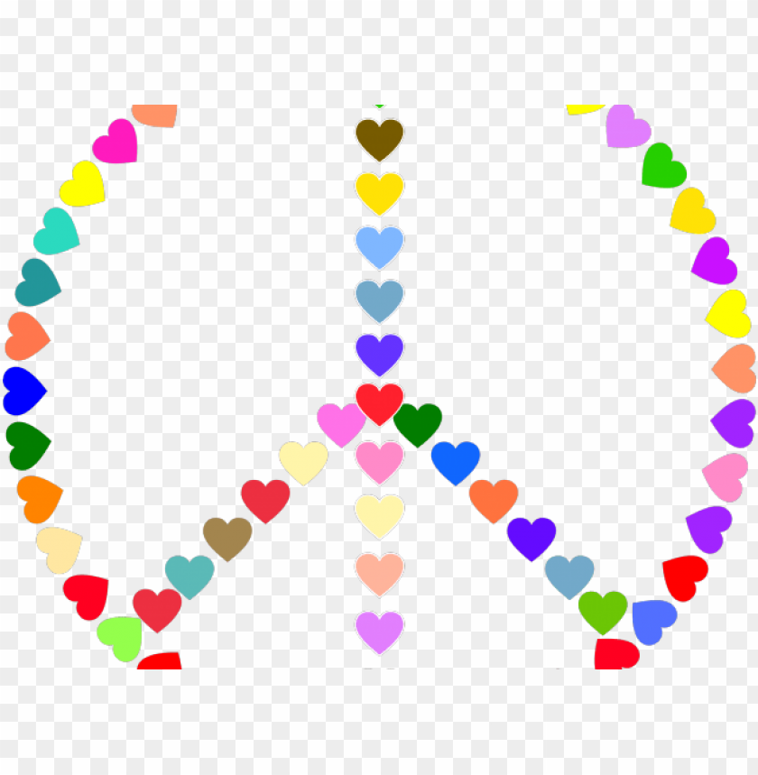 free PNG eace sign clipart peace emoji - peace sign colorful transparent PNG image with transparent background PNG images transparent
