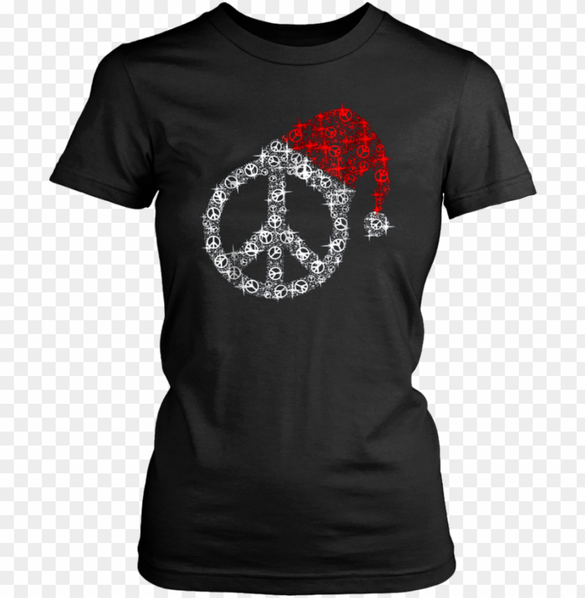 free PNG eace sign hippie christmas t-shirt - idgaf for president (ladies) - ladies classic tee / PNG image with transparent background PNG images transparent