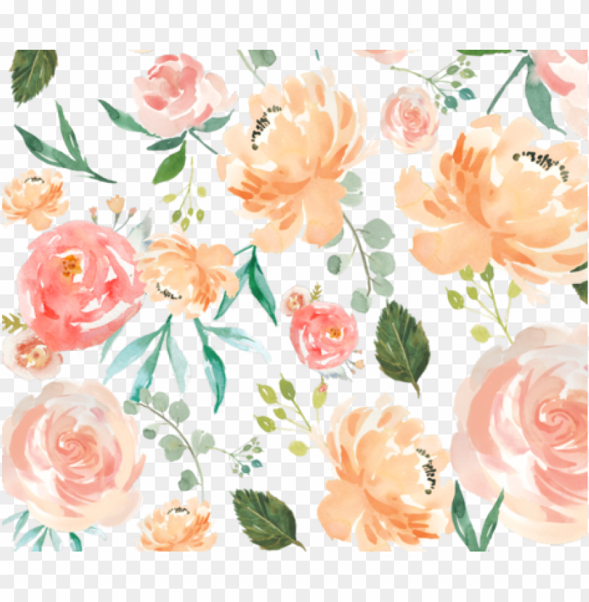 free PNG each watercolor delight flowers fabric by hudsondesigncompany - peach watercolor delight PNG image with transparent background PNG images transparent