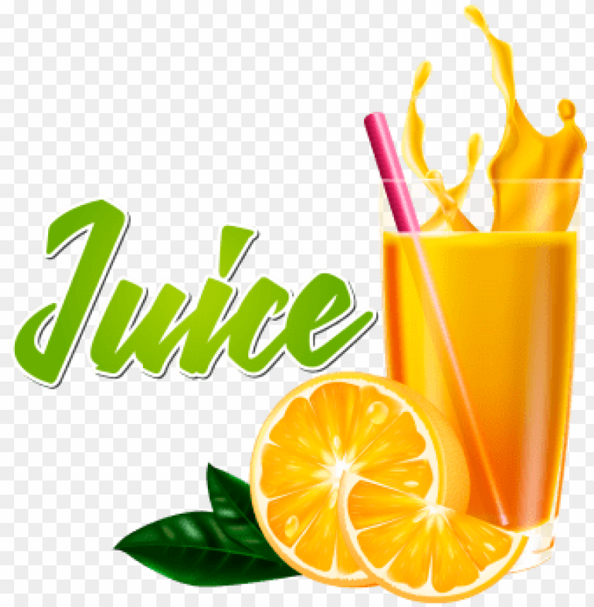 free PNG ealistic glass of orange juice with fruit and splash, - real juice PNG image with transparent background PNG images transparent