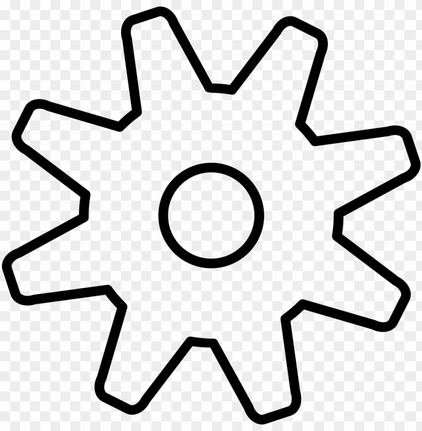 free PNG ears outline png - white gear outline icon PNG image with transparent background PNG images transparent