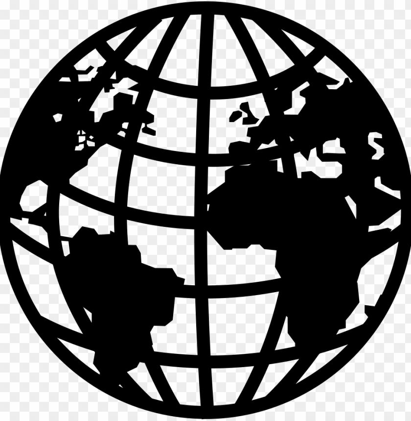 free PNG earth symbol with continents and grid comments - earth symbol PNG image with transparent background PNG images transparent