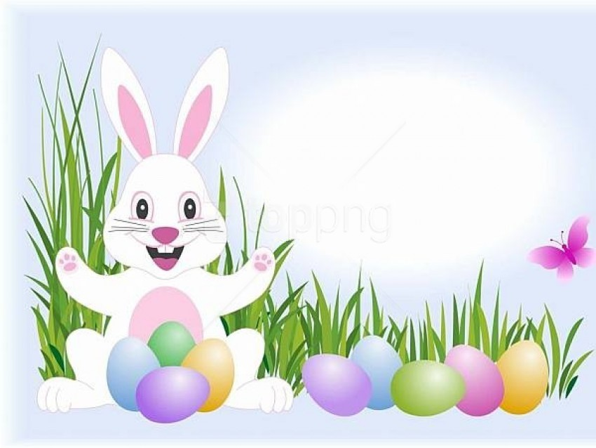 free PNG easter-bunny-and-easter-eggs 1 background best stock photos PNG images transparent