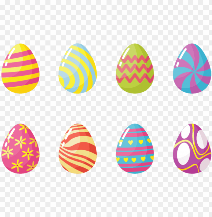 Easter Eggs Icons Vector Transparent Easter Egg Vector Png Image With Transparent Background Toppng