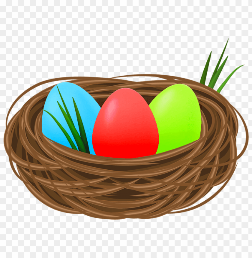 free PNG Download easter eggs in nest decorative transparent png images background PNG images transparent