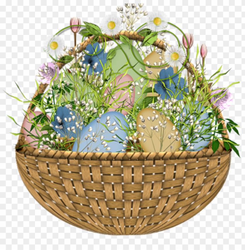 free PNG Download easter flower egg basket png images background PNG images transparent