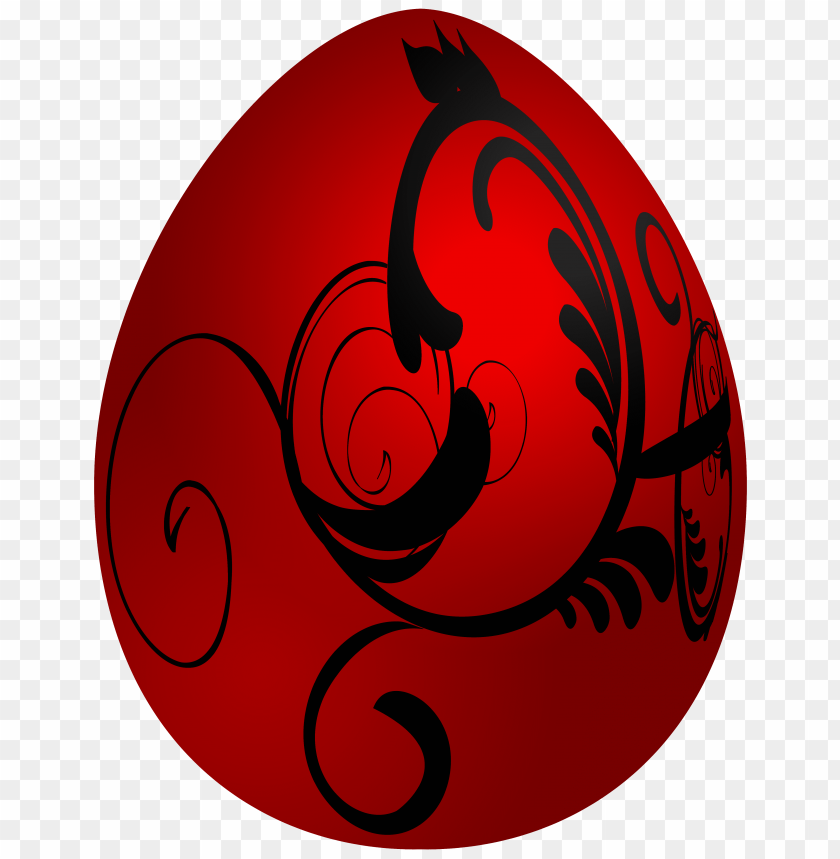 free PNG Download easter red decorative egg clipart png photo   PNG images transparent