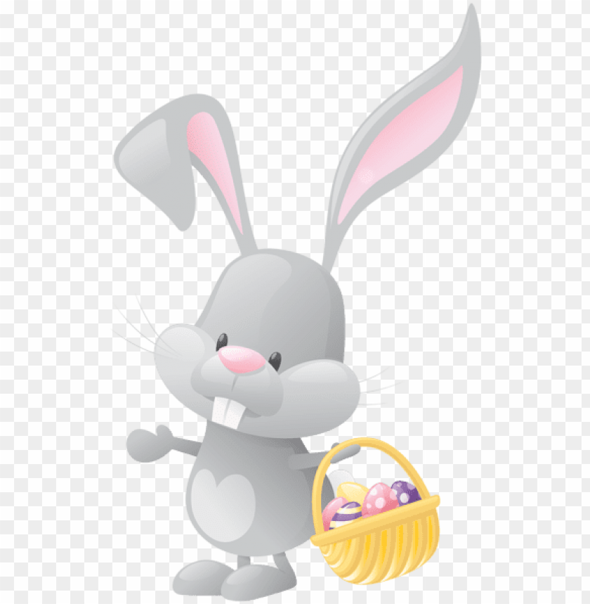 easter with basket png clip art image - easter bunny with basket clip art PNG image with transparent background@toppng.com