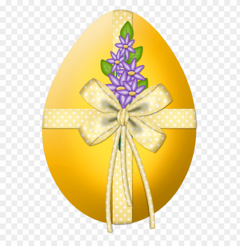 free PNG Download easter yellow egg with flower decorpicture png images background PNG images transparent