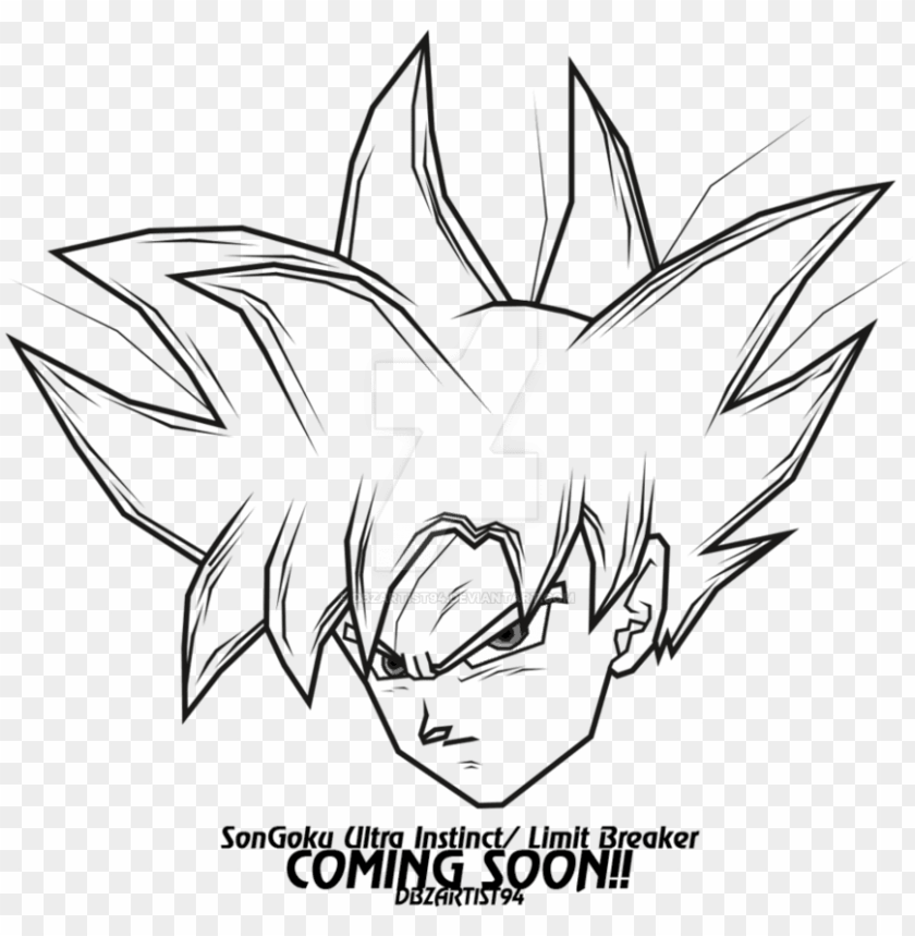 Easy To Draw Ultra Instinct Goku Png Image With Transparent